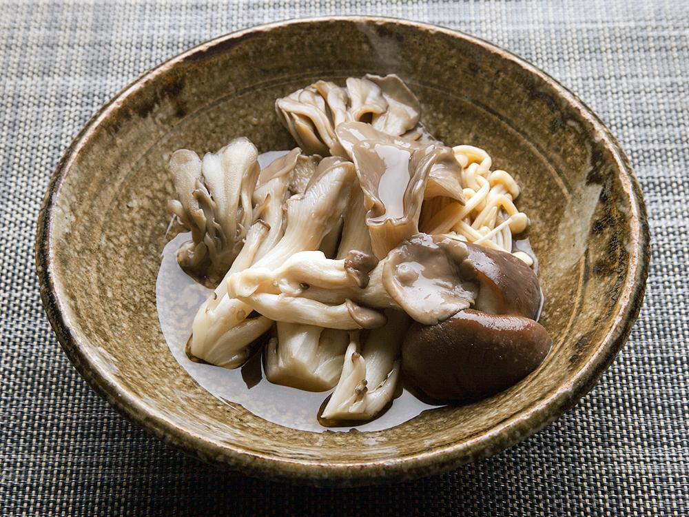 きのこの三杯酢和え(お店レシピ)